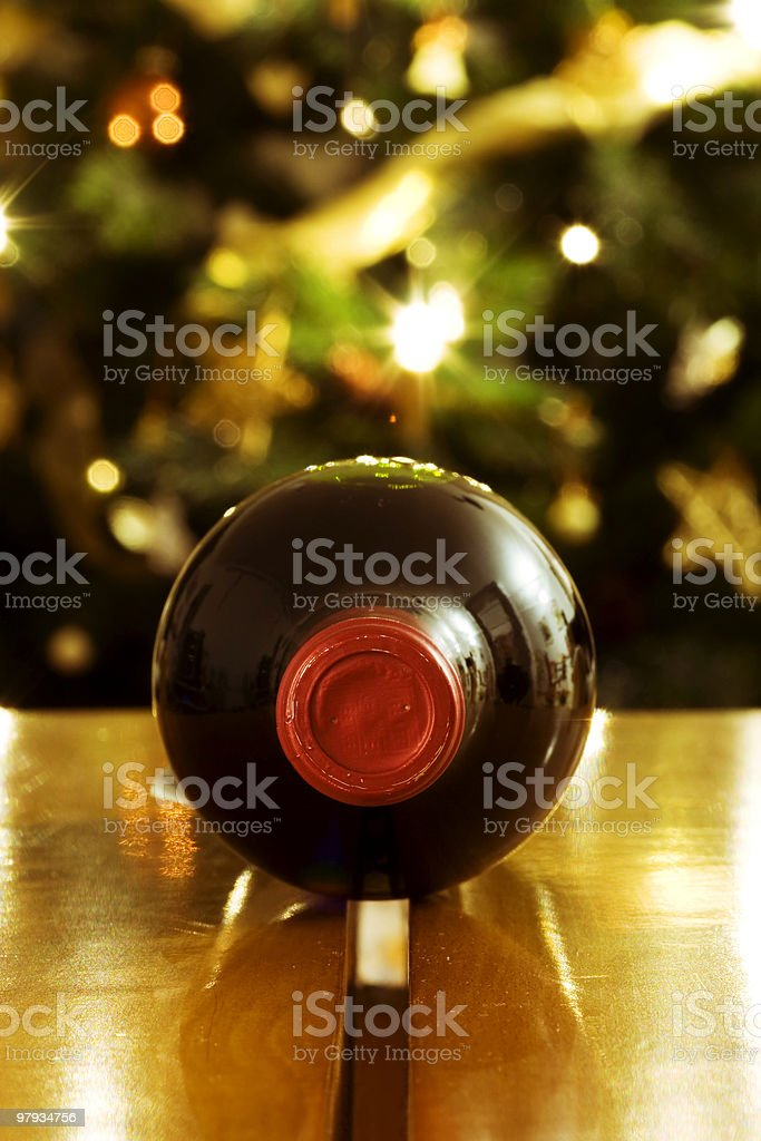 Red Wine for Christmas royalty-free stock photo