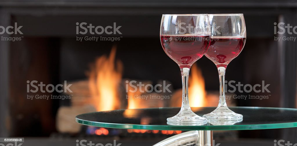 Red wine for the romantic occasion royalty-free stock photo