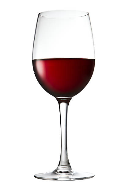 Rotwein Glas auf einem weißen – Foto