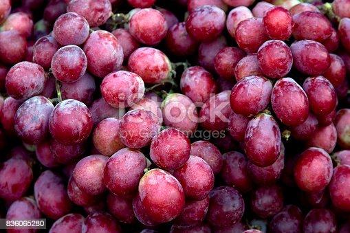 Red wine grapes background/ dark grapes, blue grapes , Red Grape, Cardinal Grape , Emperor Grape