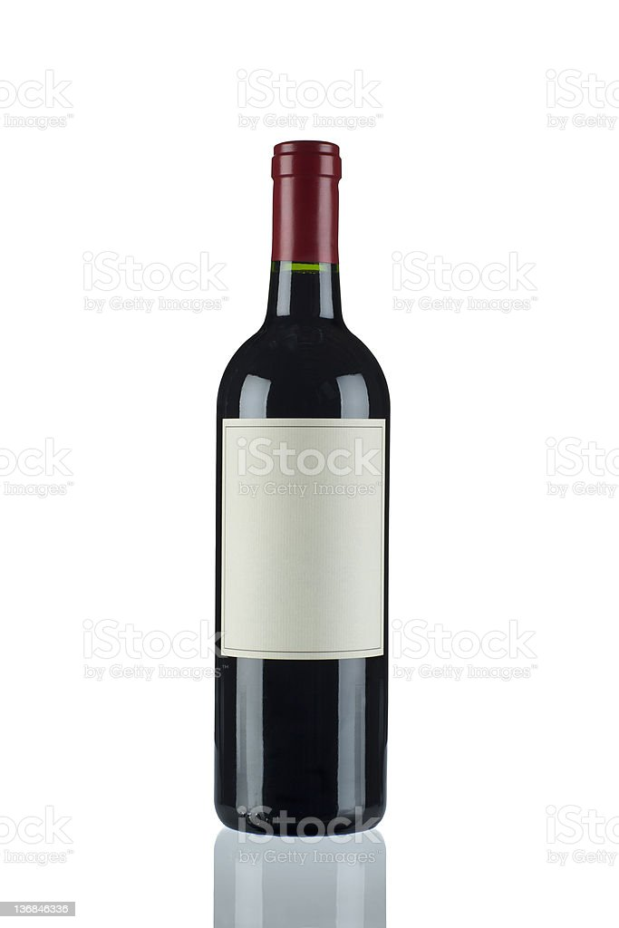 Red Wine in a Bordeux Bottle royalty-free stock photo