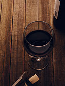 red wine in a glass on the table