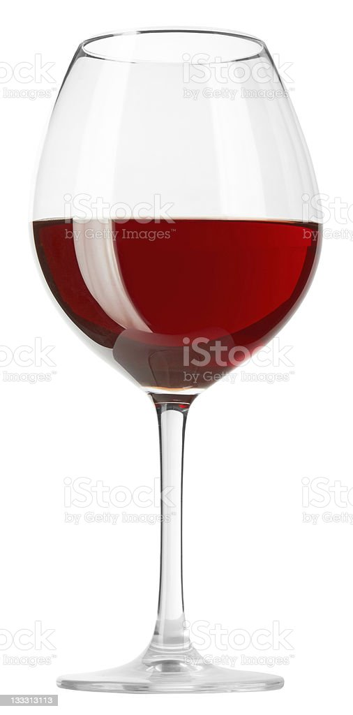 Red wine in a glass royalty-free stock photo