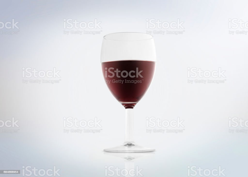 Red wine in a glass stock photo