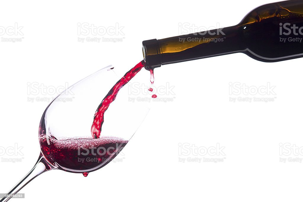 Red wine on white background royalty-free stock photo