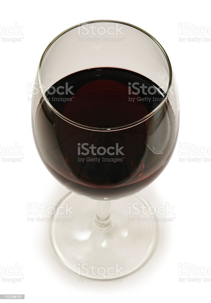 Red Wine (High Angle) royalty-free stock photo