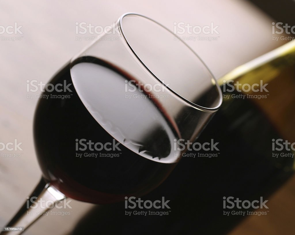 Red Wine (Showing A Little Leg) royalty-free stock photo