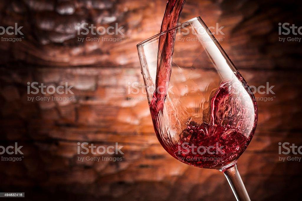 Rot Wein Eingießen – Foto