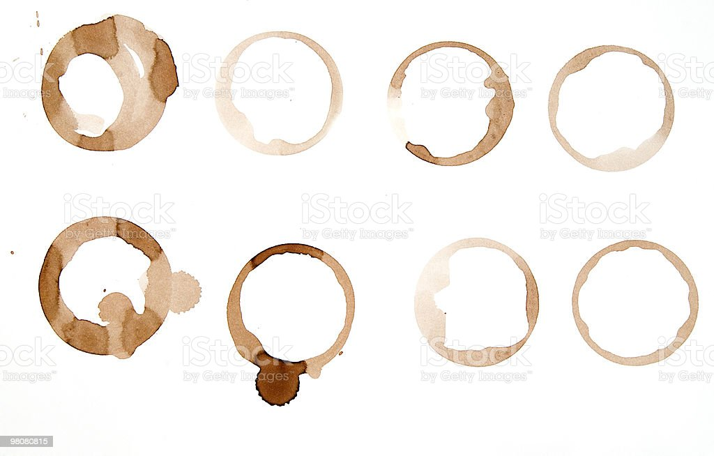 Red Wine Rings royalty-free stock photo
