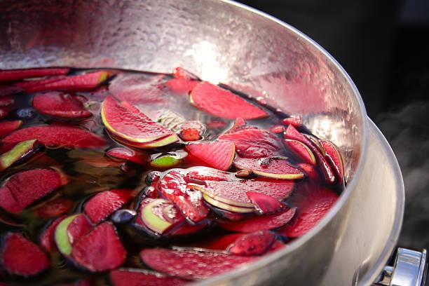 Red Wine Sangria stock photo