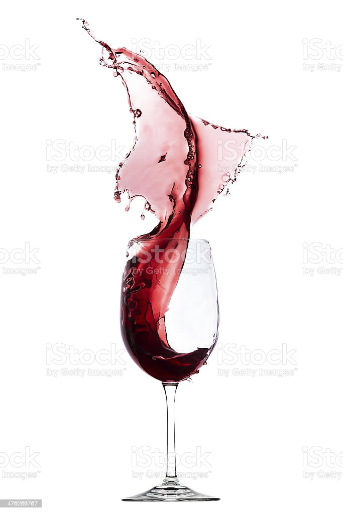 red wine splash stock photo