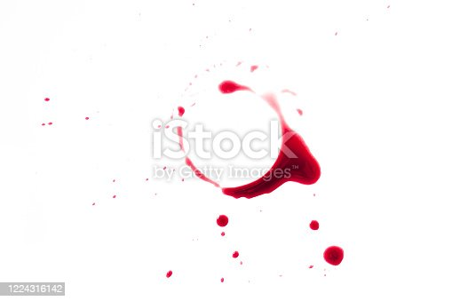 istock A red wine stain on a white background, a design template with a place for text or logo for a restaurant menu cover or a wine tasting invitation 1224316142