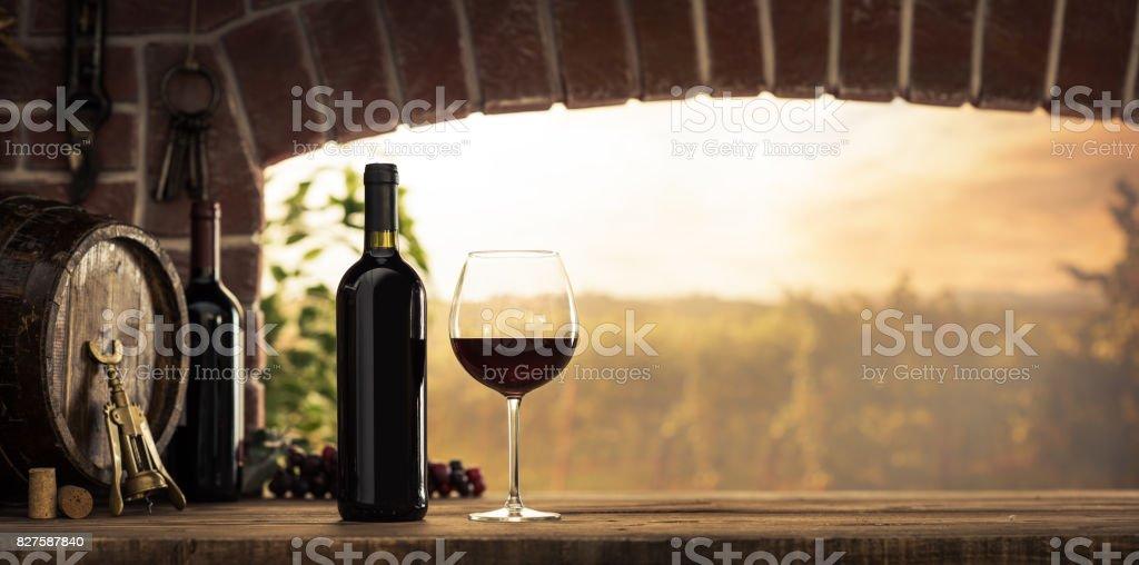 Dégustation dans la cave de vin rouge - Photo
