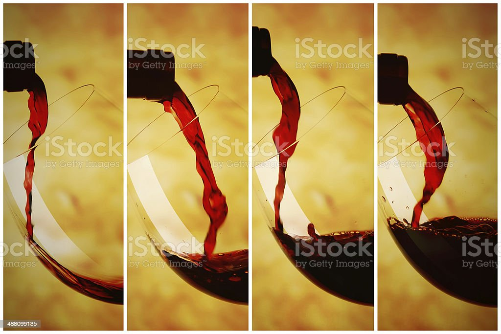 Red wine, the concept of pay or riempre stock photo