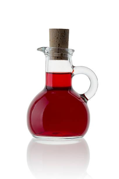 Aceto di vino rosso - foto stock