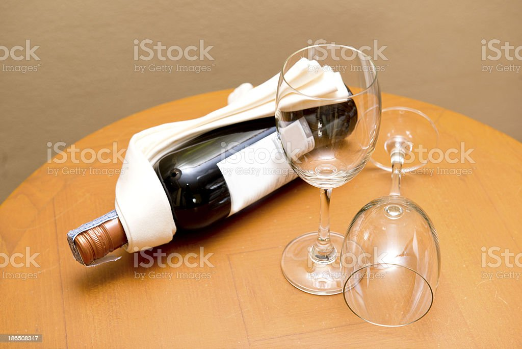 red wine with glass on the table royalty-free stock photo