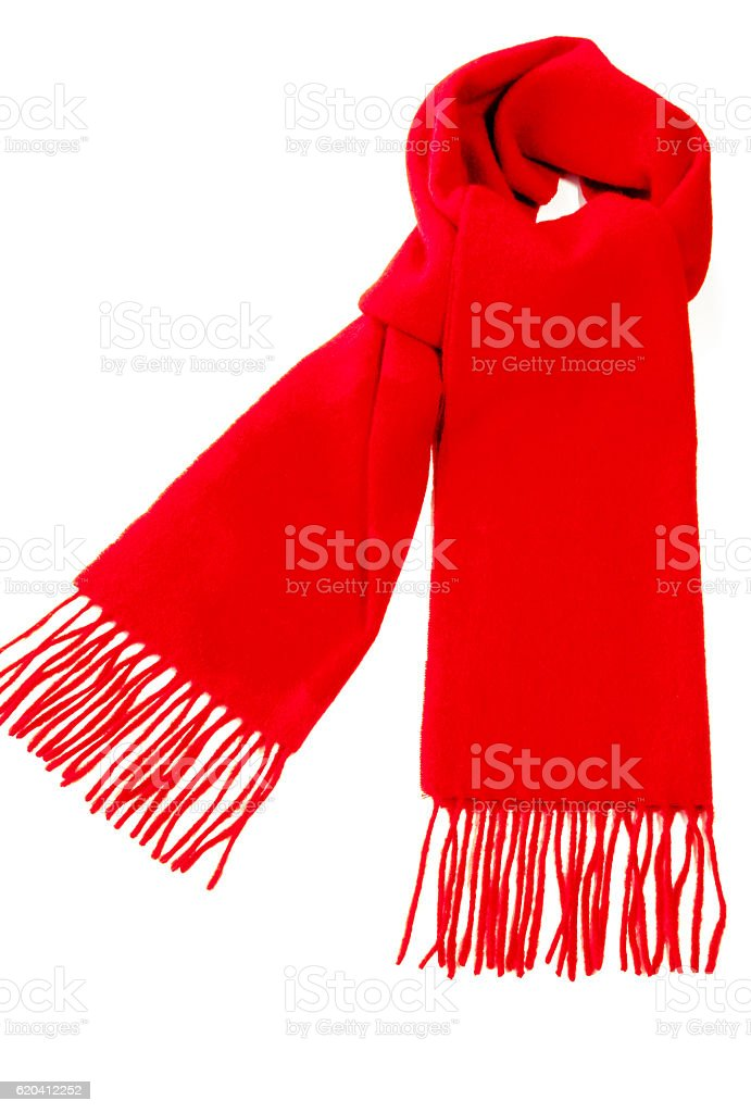Red Winter Cashmere Scarf stock photo