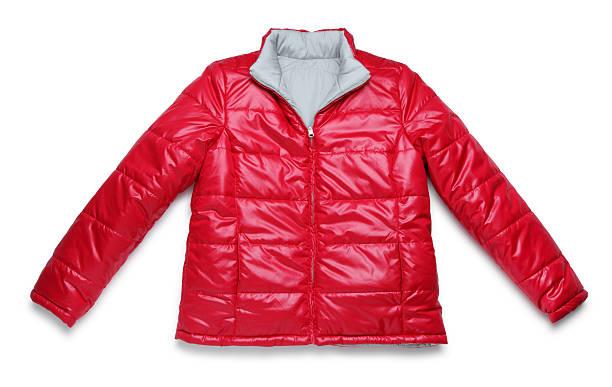 red winter jacket on white - 冬天大衣 個照片及圖片檔