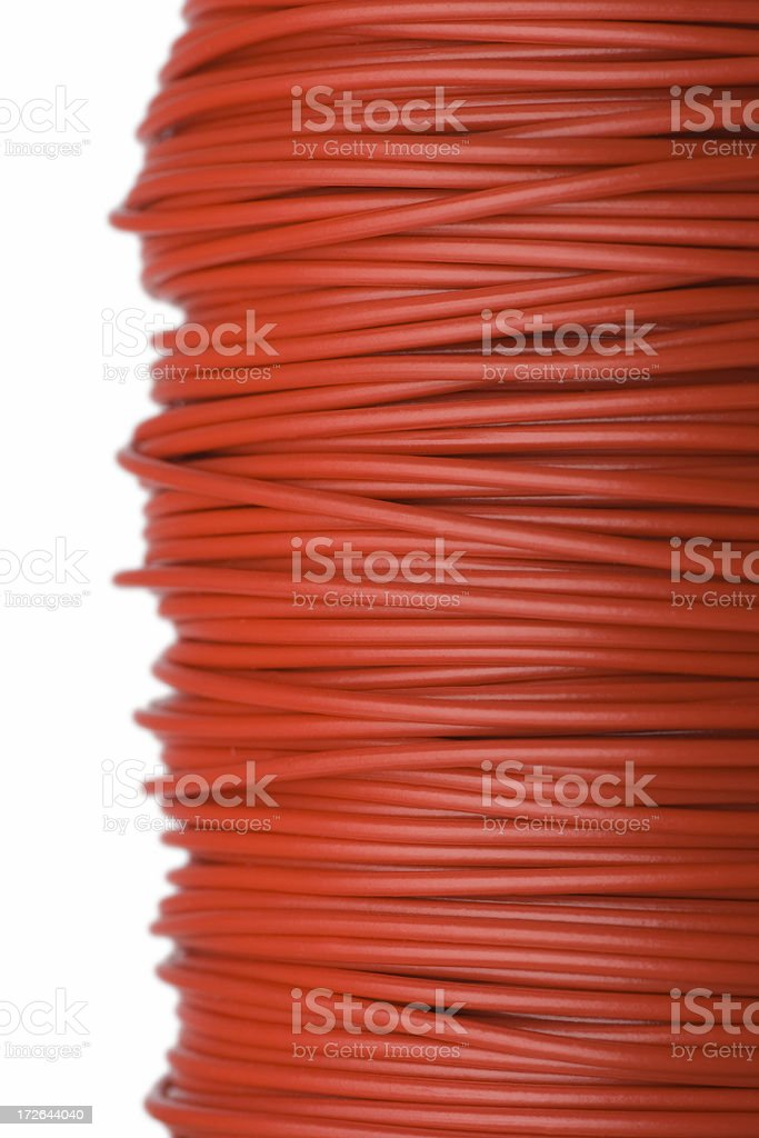 Red wire royalty-free stock photo