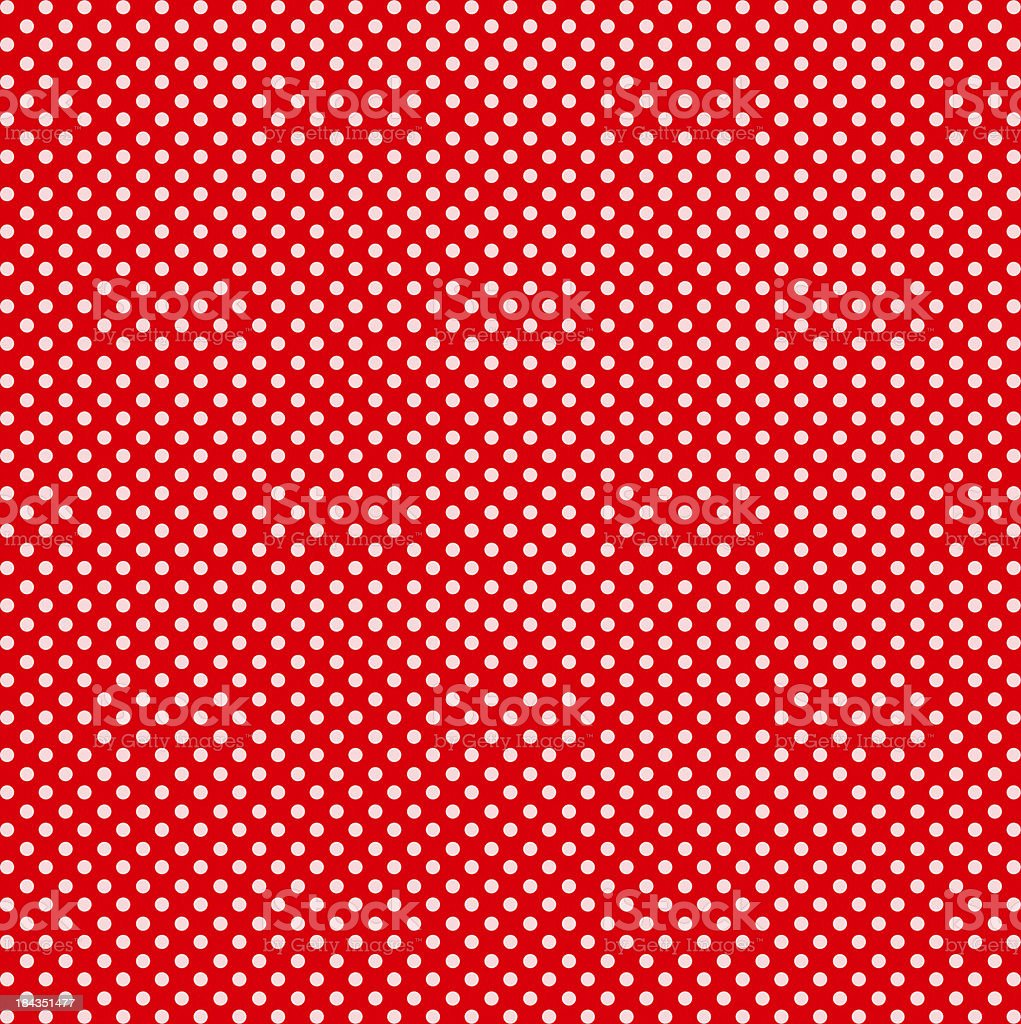 Red with White Dots stock photo