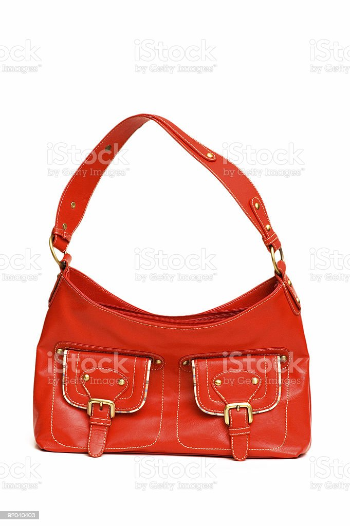 Red woman bag isolated on the white royalty-free stock photo