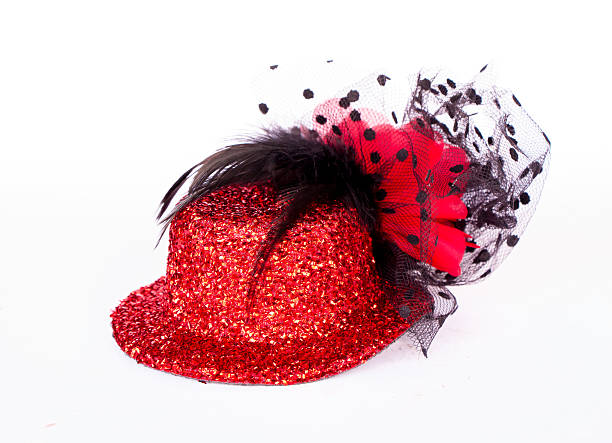 Red woman hat stock photo