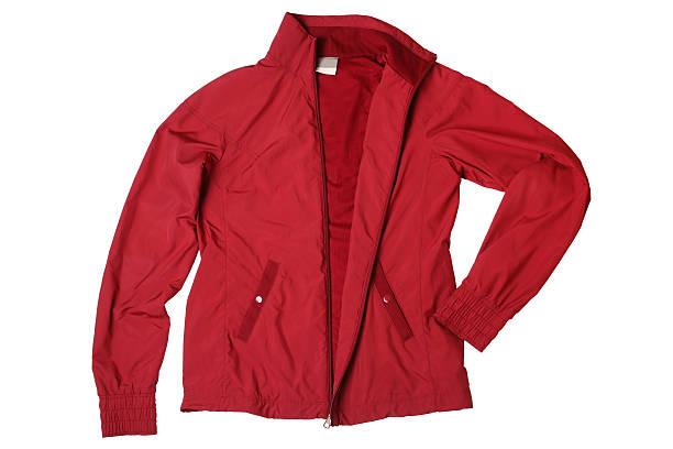 red woman's sports jacket - 外套 個照片及圖片檔