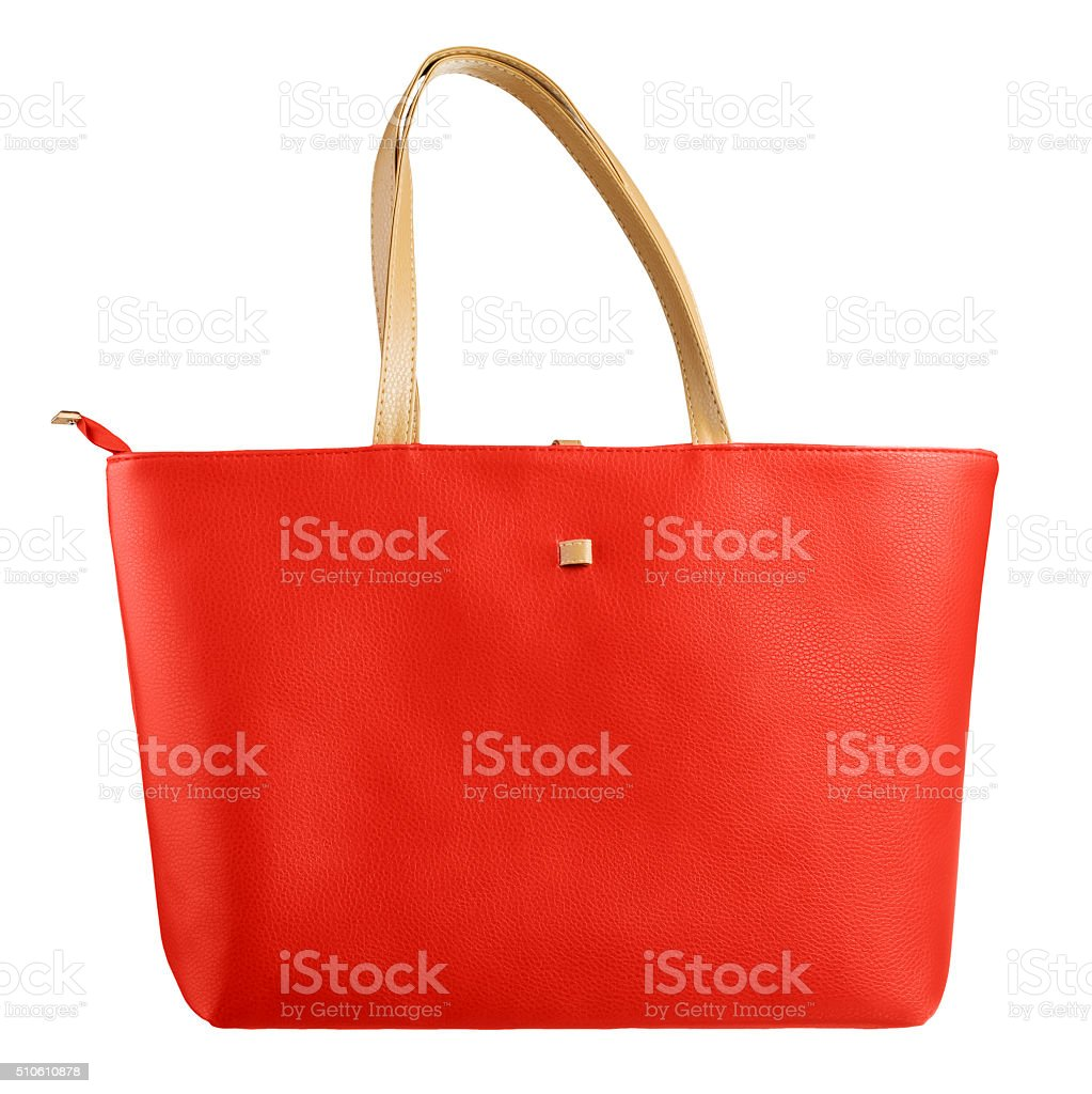 Red women bag stock photo