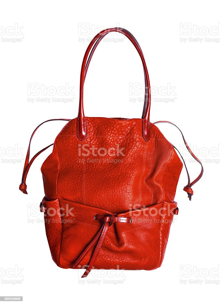 Red women leather bag royalty-free stock photo