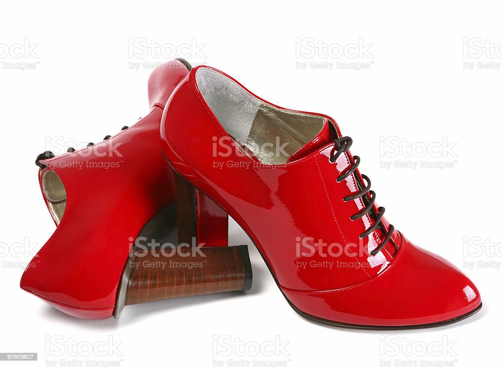 Red women shoes royalty-free stock photo