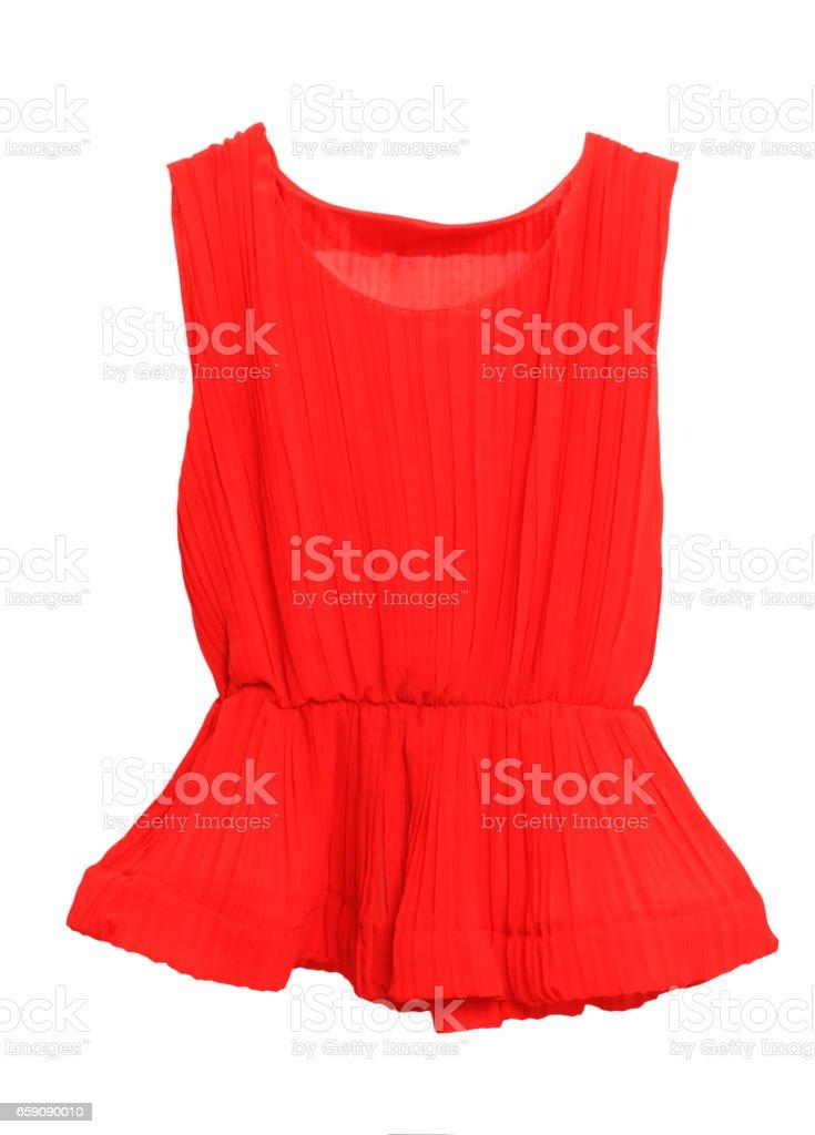 Vermelho, mulheres, verão, moda no fundo branco - foto de acervo