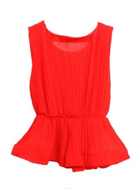 Red, women, summer, fashion  on white background stock photo