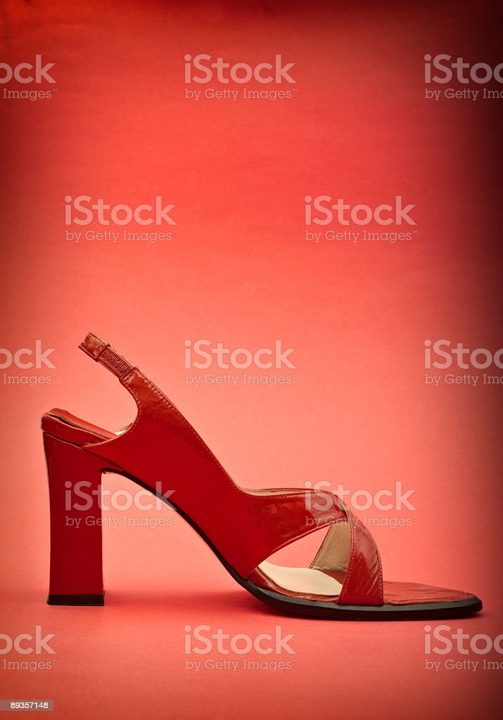 Red Women's dress shoes royalty free stockfoto