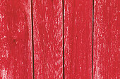 Red wooden wall in scandinavian style as a beautiful vintage background