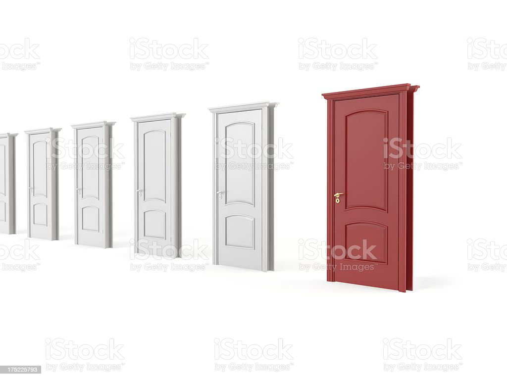 red  wood door royalty-free stock photo