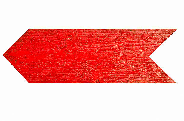 Red wooden arrow stock photo