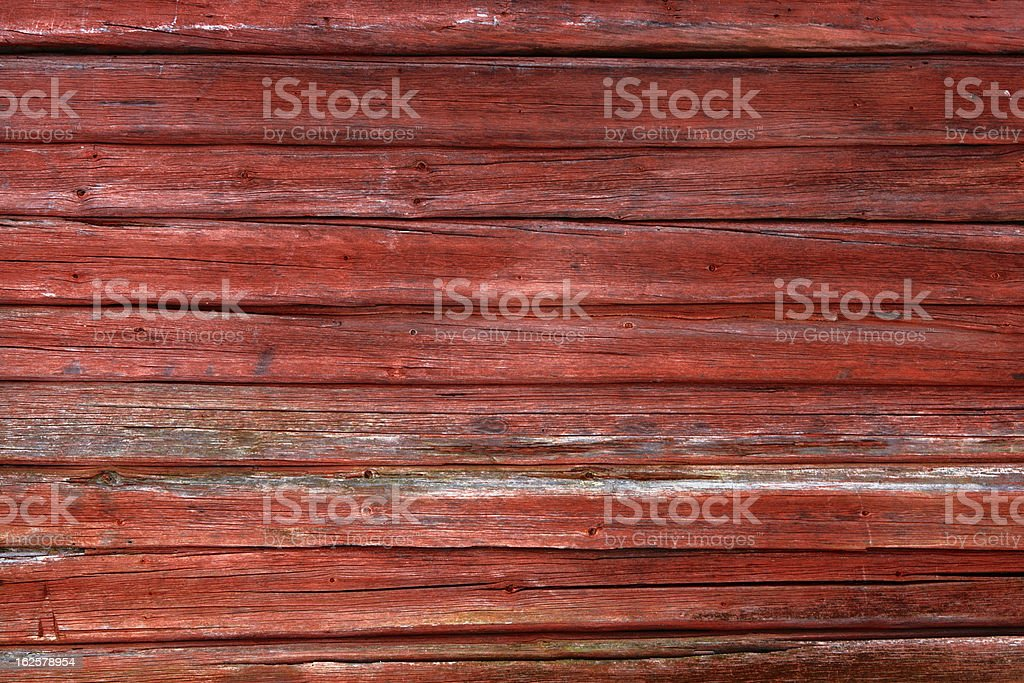 Red Wooden Barn Wall stock photo