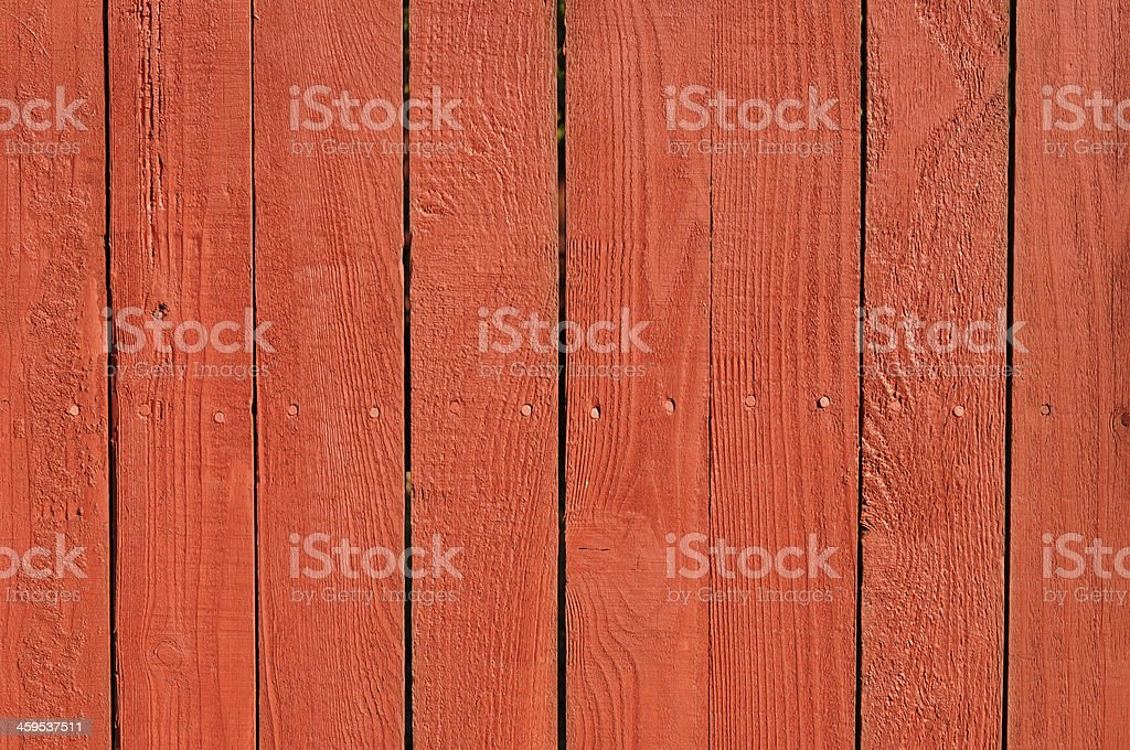 Red Wooden Fence Background royalty-free stock photo