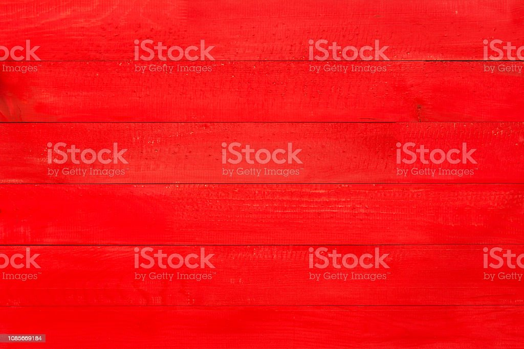 Red Wooden Texture Background Stock Photo - Download Image