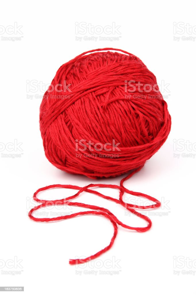 Red wool. stock photo
