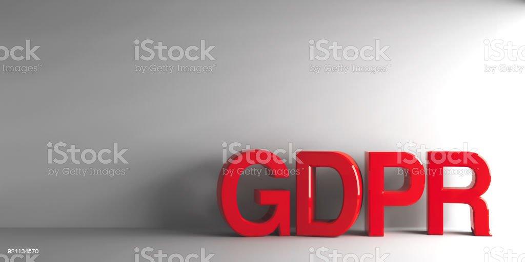 Palabra rojo GDPR - foto de stock