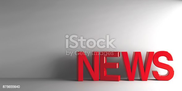 istock Red word News 875655640