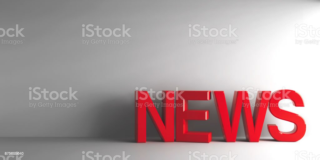Red word News stock photo