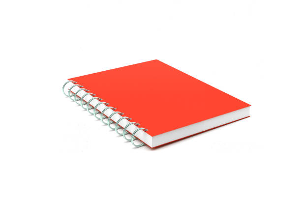 Red Work Book Isolated on White Background Red Work Book Isolated on White Background. With Clipping Path workbook stock pictures, royalty-free photos & images