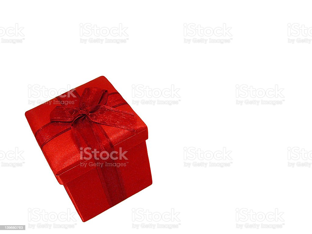 Red Wrapped Gift stock photo