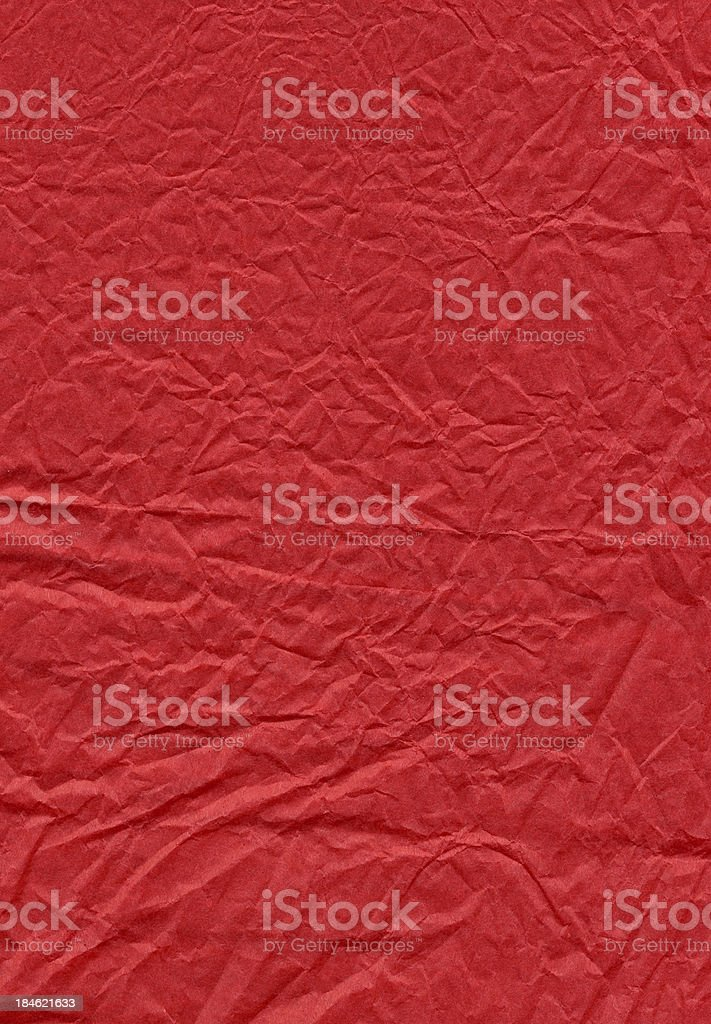 Red Wrinkled Paper stock photo