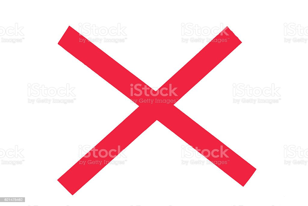 Red X stock photo