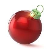 istock red xmas ball new year bauble modern shiny 1032694564