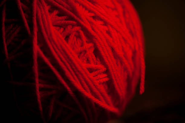 Red Yarn Ball stock photo