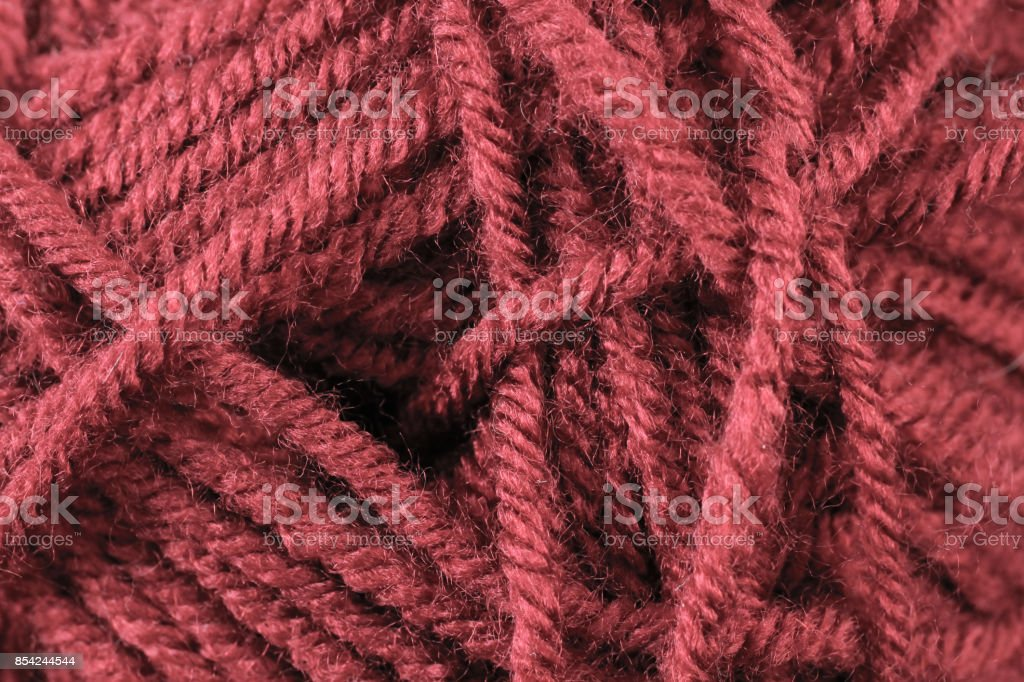 Red Yarn Texture Close Up stock photo